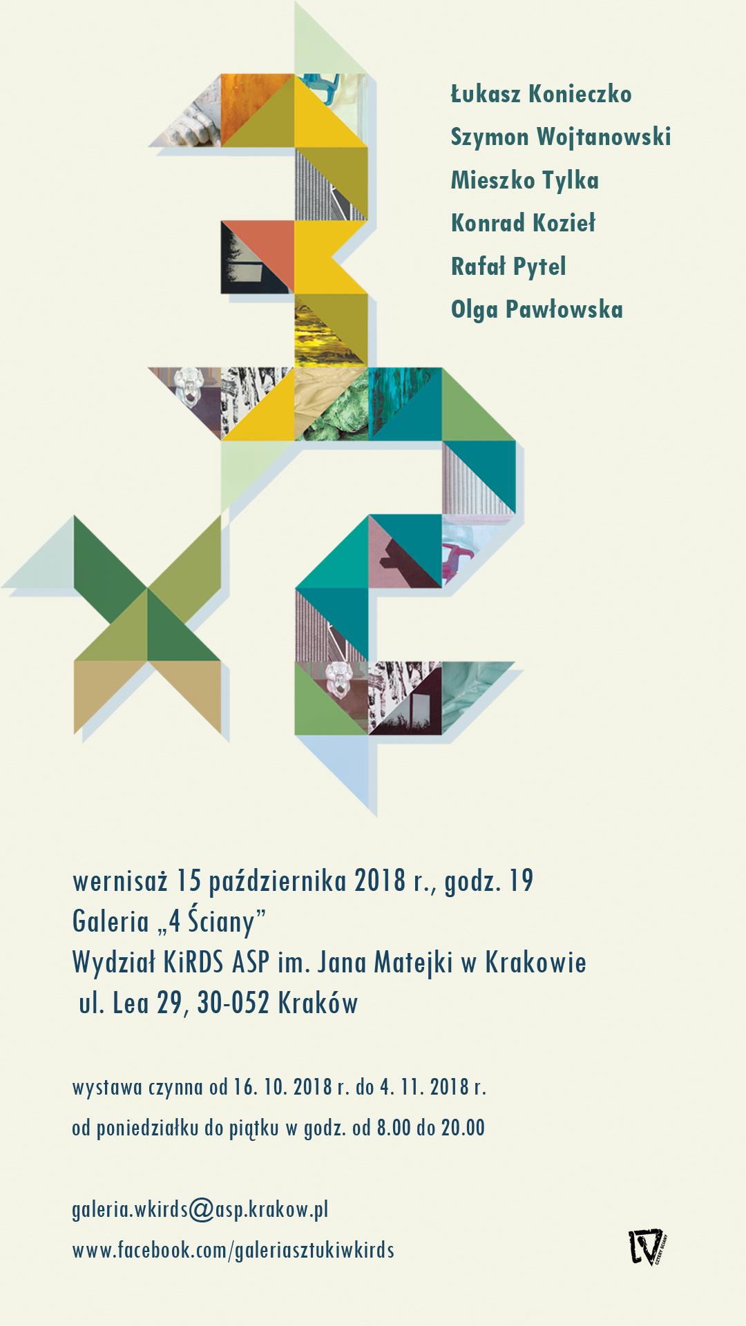 """""""3×2"""" Wystawa prac pedagogów z Katedry Sztuk Pięknych WKiRDS"""