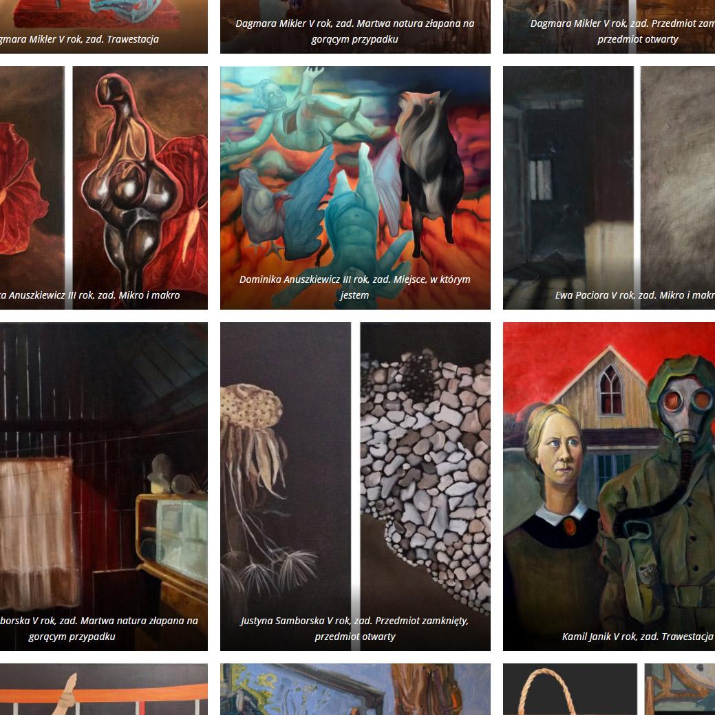 Studium Malarstwa. Wyróżnione prace z semestru zimowego 2020/2021